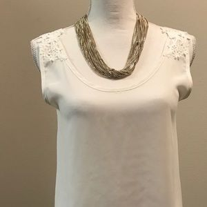 Charlotte Russe Hi/Lo Blouse with Lace Detail